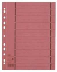 Trennblätter mit Perforation - A4 Überbreite, rot, 100 Stück
