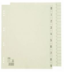 Trennblätter 0-9 - A4 Überbreite, chamois, 100 Stück