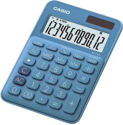Tischrechner MS-20 - Solar-/Batteriebetrieb, 12stellig, LC-Display, blau