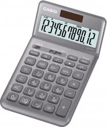 Tischrechner JW-200 - Solar-/Batteriebetrieb, 12stellig, LC-Display, grau
