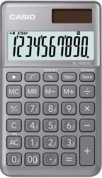 Taschenrechner SL-1000 - Solar-/Batteriebetrieb, 10stellig, LC-Display, grau