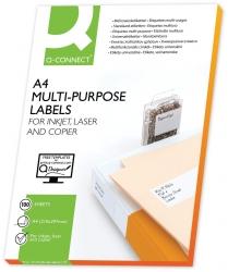 Inkjet+Laser+Kopier-Etiketten - 210,0x297,0 mm, weiß, 100 Stück/100
