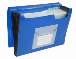 Fächermappe - 13 Taschen, 250 Blatt, PP, blau