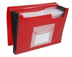 Fächermappe - 13 Taschen, 250 Blatt, PP, rot