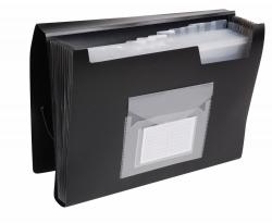 Fächermappe - 13 Taschen, 250 Blatt, PP, schwarz