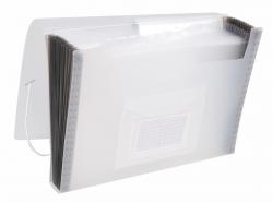 Fächermappe - 13 Taschen, 250 Blatt, PP, transluzent transparent