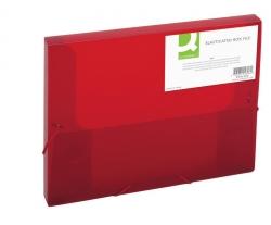 Sammelbox - A4, 250 Blatt, PP, rot transluzent