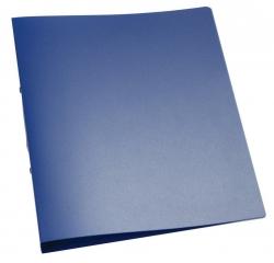 Ringbuch transparent - A4, 2-Ring, Ring-Ø 25 mm, blau-transparent