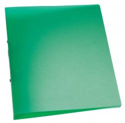 Ringbuch transparent - A4, 2-Ring, Ring-Ø 25 mm, grün-transparent