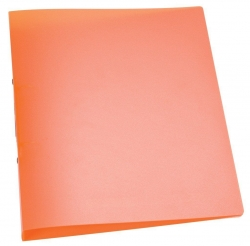 Ringbuch transparent - A4, 2-Ring, Ring-Ø 25 mm, orange-transparent