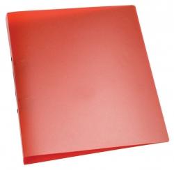 Ringbuch transparent - A4, 2-Ring, Ring-Ø 25 mm, rot-transparent