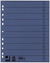 Trennblätter durchgefärbt - A4 Überbreite, blau, 100 Stück