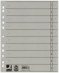 Trennblätter durchgefärbt - A4 Überbreite, grau, 100 Stück