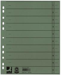 Trennblätter durchgefärbt - A4 Überbreite, grün, 100 Stück