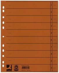 Trennblätter durchgefärbt - A4 Überbreite, orange, 100 Stück