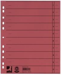 Trennblätter durchgefärbt - A4 Überbreite, rot, 100 Stück