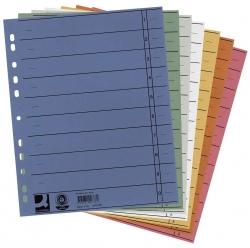 Trennblätter durchgefärbt - A4 Überbreite, sortiert (5 Farben), 100 Stück (5x20)
