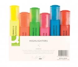 Textmarker, ca. 2 - 5 mm, Etui mit 6 Farben