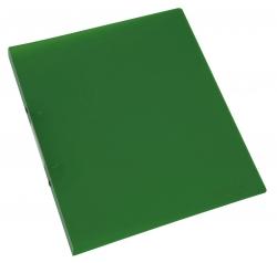 Ringbuch transparent - A4, 2-Ring, Ring-Ø 16 mm, grün-transparent