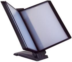 Sichttafelsystem - 10 Tafeln sortiert, Halter lichtgrau