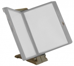 Sichttafelsystem - 10 Tafeln lichtgrau, Halter lichtgrau