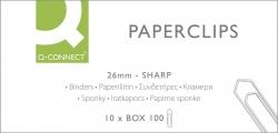 Briefklammer, Metall, 26 mm, verzinkt, Schachtel mit 100 Stück