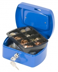 Geldkassette - 155x120x75mm - blau