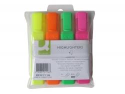 Textmarker, ca. 2 - 5 mm, Etui mit 4 Farben