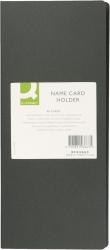Visitenkartenbuch schwarz für 96 Karten