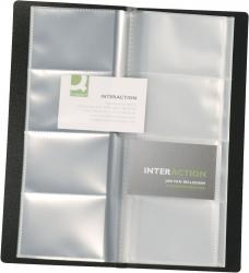 Visitenkartenbuch schwarz für 160 Karten