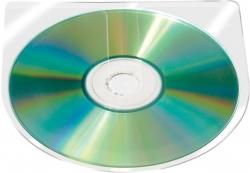 CD/DVD-Hüllen selbstklebend - ohne Lasche, transparent, 10 Stück