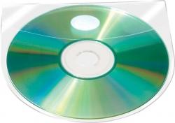 CD/DVD-Hüllen selbstklebend - mit selbstklebender Lasche, transparent, 10 Stück