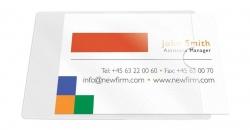 Visitenkartentaschen - Öffnung an der kurzen Seite, 9,3 x 5,6 cm, 10 Stück