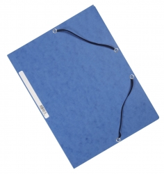 Eckspanner - Karton A4 mit Gummizug blau