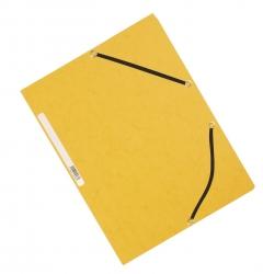 Eckspanner - Karton A4 mit Gummizug gelb