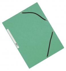 Eckspanner - Karton A4 mit Gummizug grün