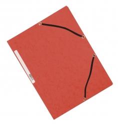 Eckspanner - Karton A4 mit Gummizug rot