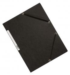 Eckspanner - Karton A4 mit Gummizug schwarz