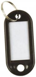 Schlüsselanhänger 10ST schwarz