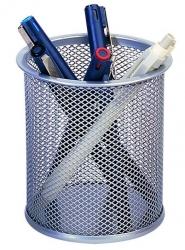 Schreibköcher Metalldraht - silber