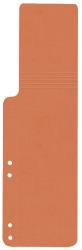 Aktenschwänze - orange, 100 Stück
