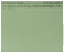 Kanzleihefter B ungefalzt - Rechtsheftung/Linksheftung, 1 Tasche, 1 Abheftvorrichtung, grün