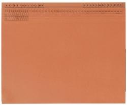 Kanzleihefter B ungefalzt - Rechtsheftung/Linksheftung, 1 Tasche, 1 Abheftvorrichtung, orange