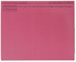 Kanzleihefter B ungefalzt - Rechtsheftung/Linksheftung, 1 Tasche, 1 Abheftvorrichtung, rot