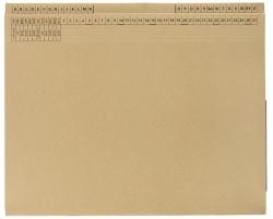 Kanzleihefter C Natron ungefalzt - Rechtsheftung/Linksheftung, 1 Tasche, 1 Abheftvorrichtung, natron