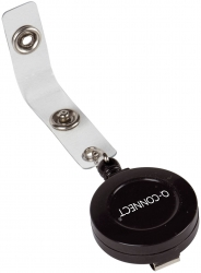 Ausweishalter JoJo - Aufrollmechanik, ca. 60 cm, schwarz, 10 Stück