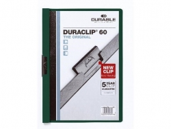 Klemm-Mappe DURACLIP® 60, DIN A4, petrol/dunkelgrün