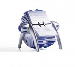 Adresskartei TELINDEX® FLIP VEGAS, metallic silber