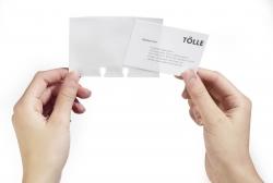 Visitenkarten-Ersatzhüllen VISIFIX® FLIP/DESK, PVC, für Karten 104 x 72 mm, transparent