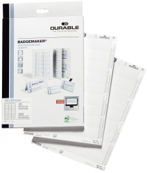 BADGEMAKER®, Einsteckschilder 30x60mm, weiß